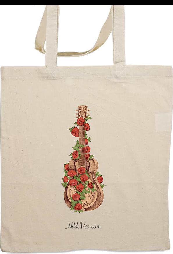 tas met rozen op dobro - Hilde Vos